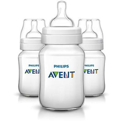 Philips Avent Anti-colic  Baby Bottles Clear, 9oz 3 Piece New