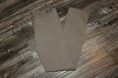 Women's Levi's Mid Rise Skinny Jeans Sz  8 M 29 x 32 Tan Nice Condition!