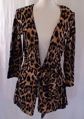 INC International Concepts Vintage Animal Pattern Cardigan Wrap Women's Size M