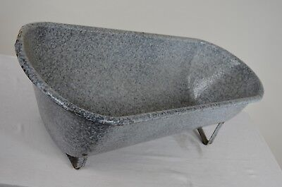Antique French Aluminum Baby Bathtub