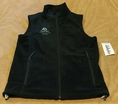 Women's Black Fleece Vest from Cabela's Size SMALL  NEW WITH TAGS! ANTHRO LOGO