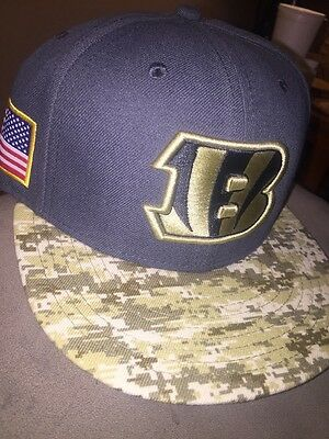 huge discount a0648 c4855 Cincinnati Bengals New Era 59Fifty NFL 2016 Salute to Service Fitted Hat 7  1 2