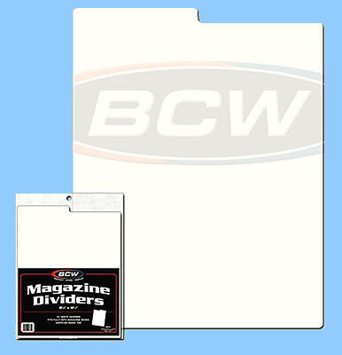 50 Fits Single Row Card Storage Boxes BCW Horizontal Trading Card Dividers