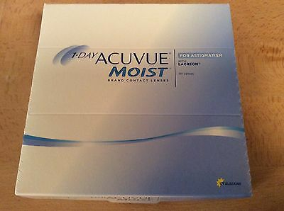 1-day Acuvue Moist brand contact lenses with Laceron for ASTIGMATISM