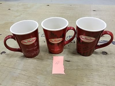 Lot of 3 Tim Hortons Coffee Mugs - Limited Special Edition # 8 , 10 , 11 grp A