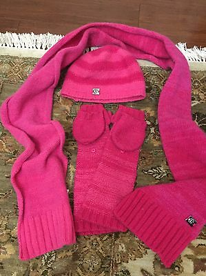 Lululemon Hat Gloves And Scarf Lot Pink ��