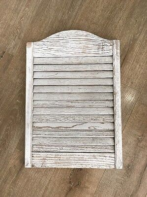 VTG Wood Shutter White Shabby Farmhouse Style Unique