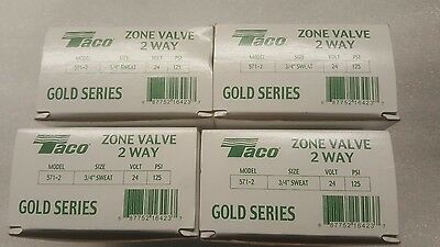 Lot of 4 Taco 571-2 3/4-Inch Gold Series Zone Valve