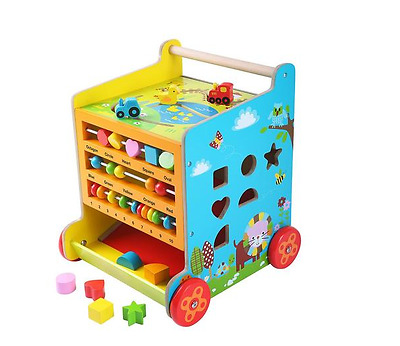 Baby 6 In 1 Activity Cube & Walker Toys Toddler, Walking Learning Kids