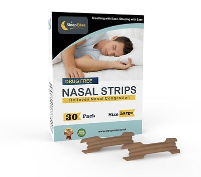 A SleepEase PREMIUM Nasal Strips! STOP SNORING & NASAL CONGESTION NOW! – 30