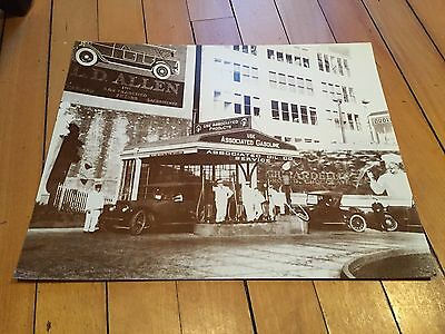 Antique Vintage Associated Gasoline Photo Sign 14 By 11 Gas Station