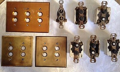Vintage push button light switches with covers