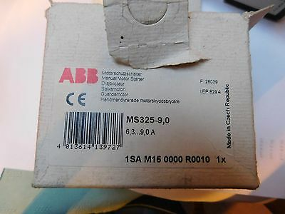 ABB Manual Motor Starter MS 325-9,0    6.3 TO  9 AMPS