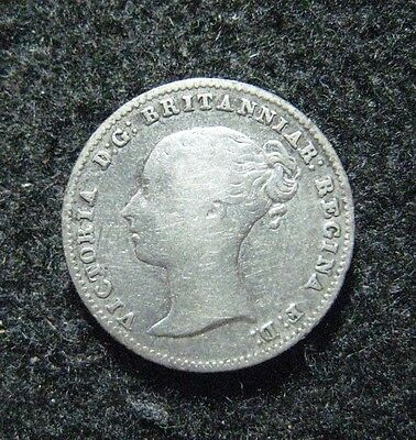 1838 Great Britain 4 Pence Groat Silver Coin Nice !