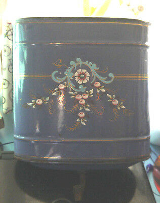 French vintage graniteware fontaine tank purple enamelware flowers France 1900s