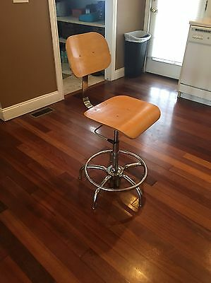 Retro Vintage Steampunk Industrial Drafting Bar Counter Stool Toledo Era VGC!