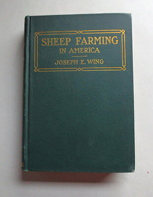 1912 Sheep Breed Farming In America Joseph E. Wing