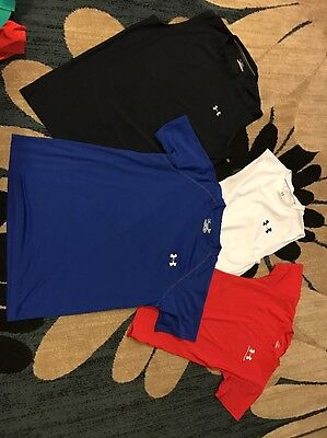Mens Adult Small Under Armour Lot Of 4 Shirts- LOOK READ