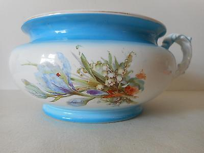 Antique KT & K Knowles Taylor Chamber Pot Floral