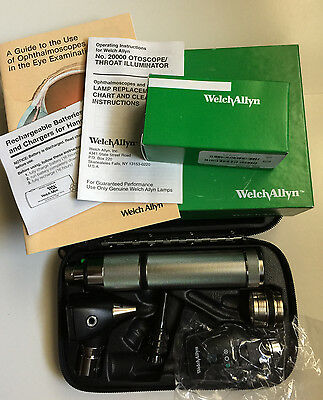 NEW Welch Allyn 3.5v Coaxial Ophthalmoscope, Otoscope Diagnostic Set, 97200