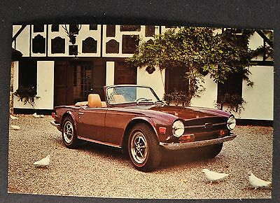 1969 Triumph TR-6 Postcard Sales Brochure Excellent Original 69