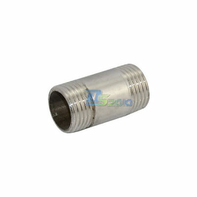 """1/2"""" NPT Male to Male M/M Threaded Pipe Fitting Stainless Steel SS 304 megairon"""