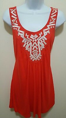 MOTHERHOOD MATERNITY Embroidered Sleeveless Top Size Small PERFECT CONDITION