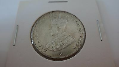 1921 Straits Settlements 50C Uncirculated Silver Coin Low Mintage Hot Asia