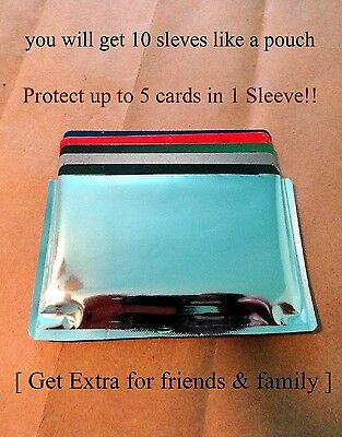 10-RFID High Level Blocking-Credit Card Sleeves like a pouch and is Waterproof!!