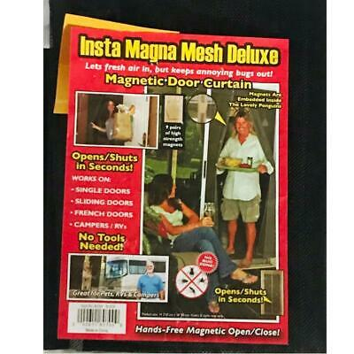 NEW Insta Magna Mesh Deluxe Curtain - FREE SHIPPING