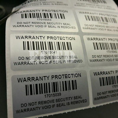 500 Warranty Protection Void Label Sticker Barcode serial number ,Security Label