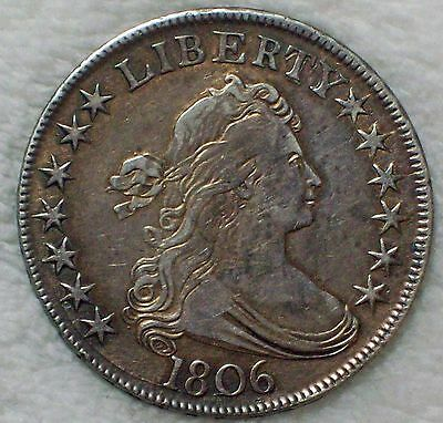 1806 HALF DOLLAR *SILVER* O-115a Variety - XF Detailing Authentic POINT 6 *RARE*
