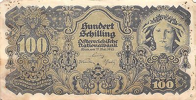 Austria  100/-  29.5.1945  Series 1052  Circulated Banknote E422EL