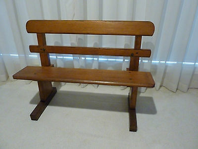 Vintage Old Timber Children's Fold Up Bench Seat