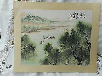 Antique Chinese Watercolour Painting On Rice Paper