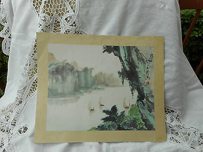 ANTIQUE CHINESE WATERCOLOUR PAINTING ON RICE PAPER no 2