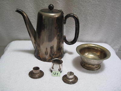assorted silver plate epns coffee pot, bowl etc