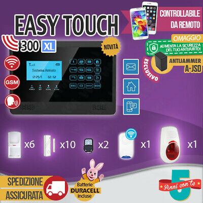 Kit Antifurto Casa Allarme Touch Screen Combinatore Gsm Wireless Easytouch300Xl