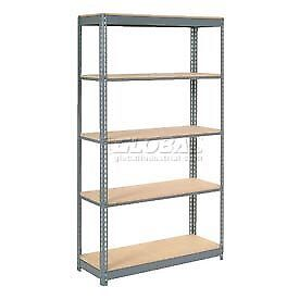 "Heavy Duty Shelving 48""W x 24""D x 96""H With 5 Shelves, Wood Deck"