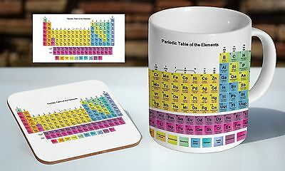 Periodic Table Science Educational Tea Coffee Mug Coaster Gift Set Picclick Uk