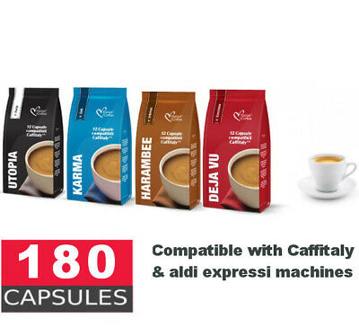 180 Capsules compatible with Caffitaly system by MAP / Woolworths - 44c per caps