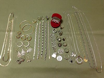 Large Lot Of Sterling Silver Jewelry Not Scrap