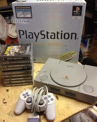 Playstation 1 + Giochi Ps1 Play Console Boxata
