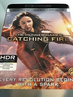 The Hunger Games: Catching Fire**4K Ultra Hd Blu-Ray**region Free**new & Sealed
