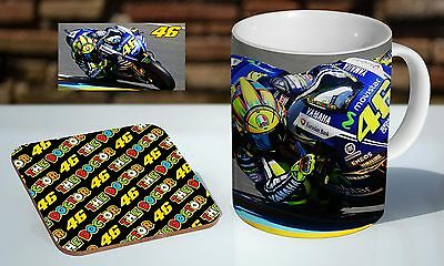 Valentino Rossi Moto GP Tea / Coffee Mug Coaster Gift Set