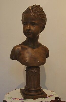 ### Vintage Composite Bust Of Louise Brongniart After Houdon ###