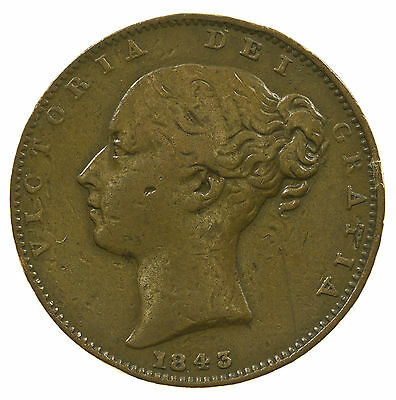Great Britain, Victoria Farthing, 1843