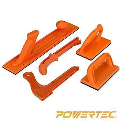 5-Piece Plastic Orange Router Table/Band Saw/Jointer Safety Push Block/Stick Set