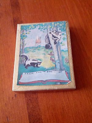 Vintage HTF Antioch  BOOK PLATES with Raccoon Skunk Deer Nature Forest Friends