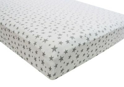 Cot Bed Midnight Grey 100% Cotton Jersey Fitted Sheet 70x140cm